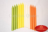 Свеча столовая желтая 240х20 мм 30 шт