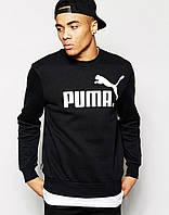 Свитшот черный PUMA ( значёк+имя )