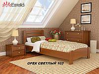 Кровать Венеция Люкс односпальная Бук Щит 103 (Эстелла-ТМ)