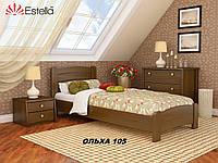 Кровать Венеция Люкс односпальная Бук Щит 105 (Эстелла-ТМ)