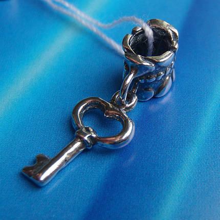 Шарм-подвеска Ключик для браслета Пандора, фото 2