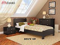 Кровать Венеция Люкс односпальная Бук Щит 106 (Эстелла-ТМ)
