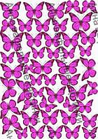 Вафельные картинки для торта бабочки синии