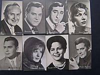 Набор фотооткрыток артисты кино 50-х СССР 8 шт.