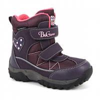 Детские термо ботинки зимние B&G termo (Би Джи) фиолетовые