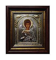Ангел Хранитель Икона под стеклом серебряная 233 х 257 мм