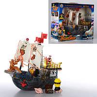Корабль пиратов 50828 D  31-26-10см, фигурки, сундук, в кор-ке, 38-31-12см