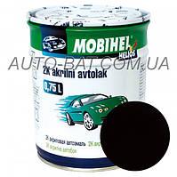 Автоэмаль двухкомпонентная автокраска акриловая (2К) 601 Глубоко-чёрная Mobihel, 0,75 л