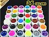 Набор цветных гелей GDCOCO  36 штук глиттерные