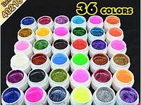 Набор цветных гелей GDCOCO  36 штук глиттерные, фото 1
