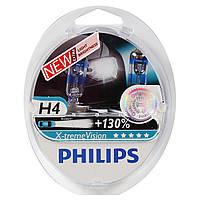 """Автомобильные галогенные лампы """"PHILIPS"""" (H4)(X-treme Vision)(+130%)(3700K)(12V)(60/55W), фото 1"""