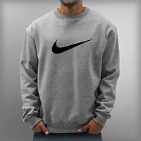 Свитшот серый Nike ( галочка )