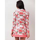 44/S платье мини свободного кроя с врезными карманами принт цветы, фото 2