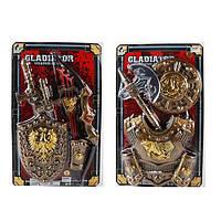 Набор рыцаря 6924B-27B  щит, меч, доспехи, 2 вида, на листе, 38-62-5см