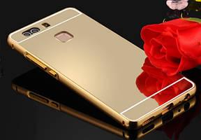 Чехол бампер для Huawei Ascend G7 C199 зеркальный
