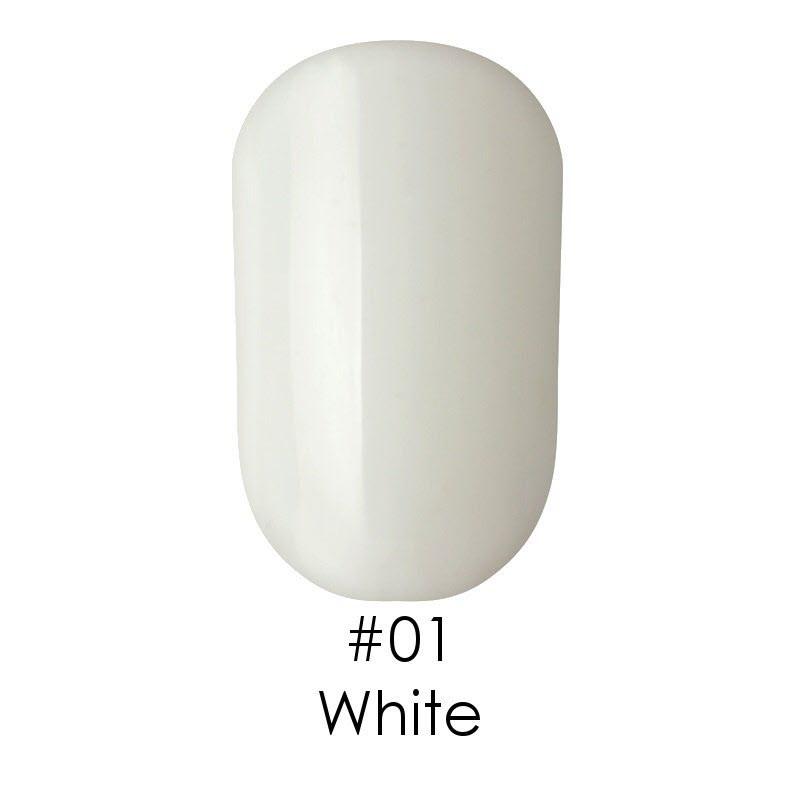 Гель лак для ногтей Naomi №001 белый, 6 мл