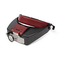 Бинокулярная лупа Magnifier 81007-A с LED подсветкой 1.5X 3X 8.5X 10X увеличения