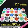 Набор цветных гелей GDCOCO 24 штук перламутровые