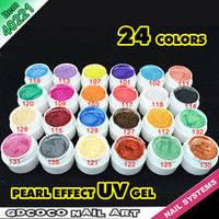 Набор цветных гелей GDCOCO 24 штук перламутровые, фото 1