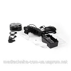 Бинокулярная лупа Magnifier 9892Е с LED-подсветкой 5Х, 10Х, 15Х, 20Х увеличения