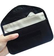 Чехол блокирующий сигнал сотового телефона с 2-мя карманами для больших смартфонов с диагональю от 5 дюймов