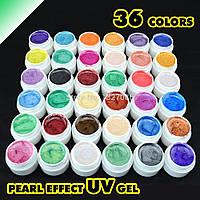 Набор цветных гелей GDCOCO 36 штук перламутровые, фото 1