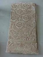 Покрывало искусственный мех (травка) с узором бежевое, фото 1