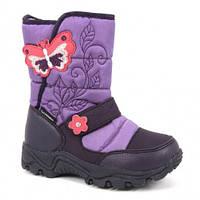 Сапожки зимние для девочки B&G termo (Би Джи) фиолетовые