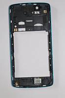 Fly IQ4503 средняя часть + стекло камеры синяя