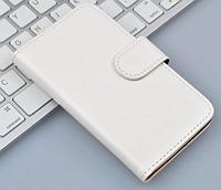 Кожаный чехол книжка для Lenovo A606 белый