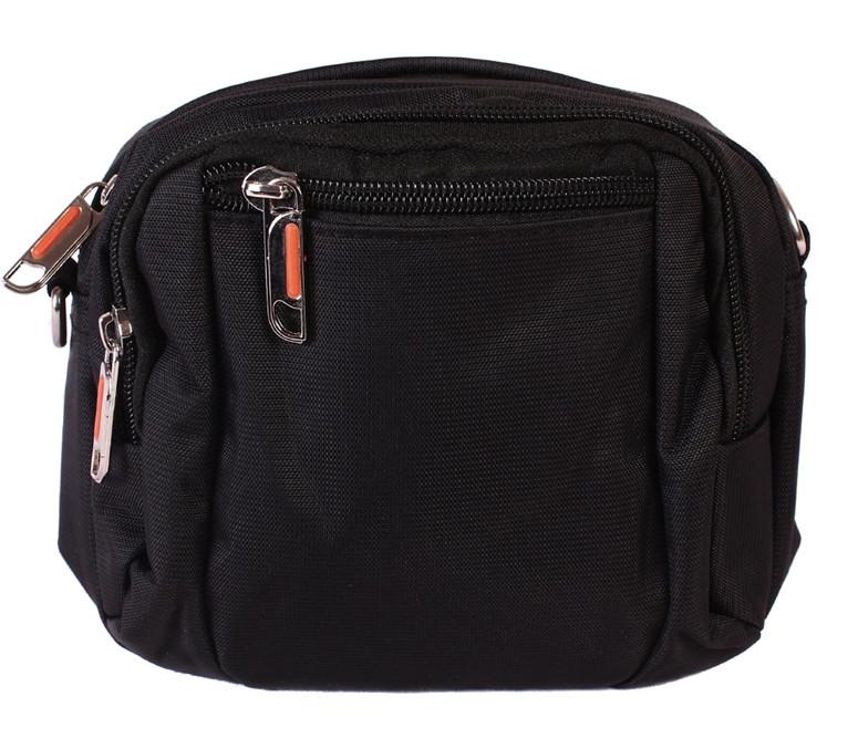 8fcb5cf114d1 Мужская тканевая сумка на пояс/через плечо черная - АксМаркет в Киеве