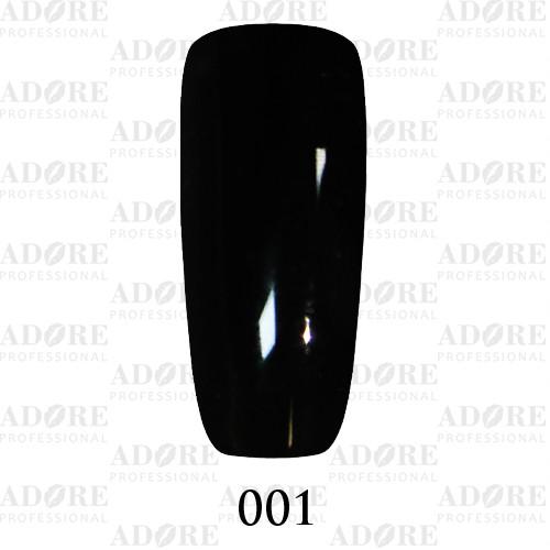 Гель лак Adore №001, Черный 9 мл