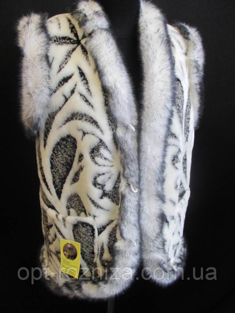 Теплые меховые жилетки для женщин.
