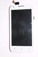 Fly IQ4406 сенсор + дисплей (оригинальный) белый, фото 1