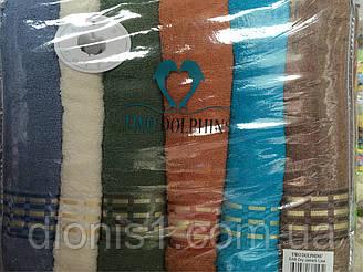 Банное махровое полотенце  Штрихи Турция серпин. 6 шт в уп. Размер 1.4х70 - 100% хлопок