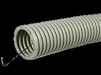 Труба гофрированная с протяжкой, гибкая ПВХ 20, бухта 100 м