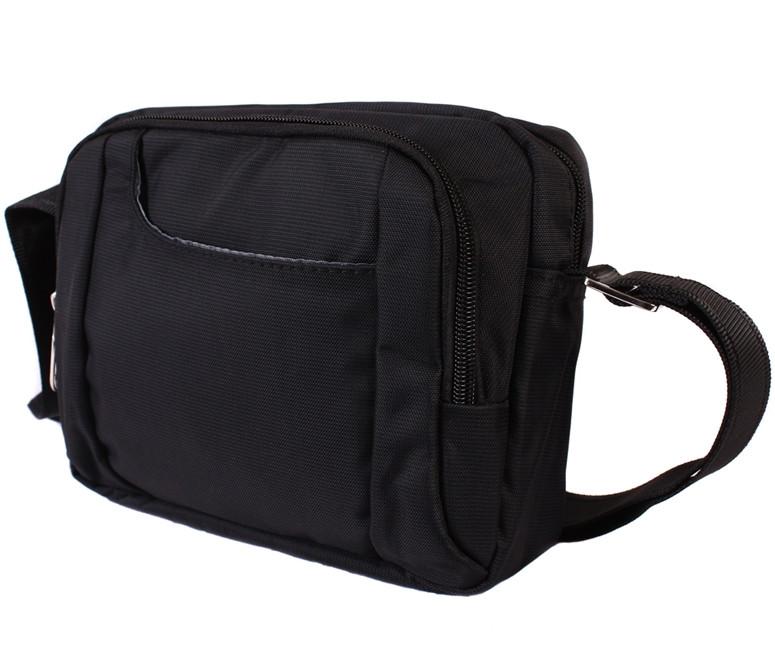 c79d6a3bf044 Мужская тканевая сумка через плечо черная, цена 465 грн., купить в ...