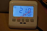 Терморегулятор 3600вт теплый пол с Дисплеем 3.6kW, 2 датчика, программа пленочный кабельный пол