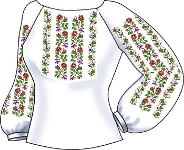 СВЖЛ-13. Заготовка для вишивки бісером Жіноча сорочка лляна. -