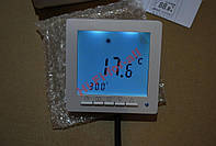 ТермоРегулятор На теплый пол 3600Вт с экраном дисплеем программа 28 точек на неделю