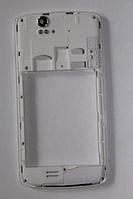Fly IQ4503 средняя часть + стекло камеры беляя