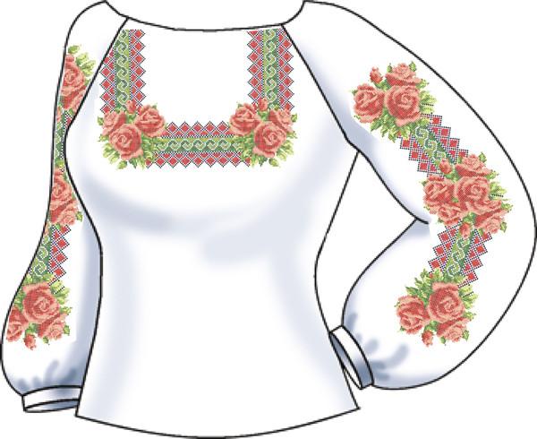СВЖЛ-14. Заготовка для вишивки бісером Жіноча сорочка лляна. 7201ca8d92eff