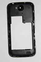 Fly IQ4406 средняя часть + стекло камеры черная