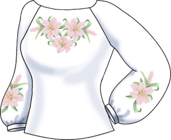 СВЖЛ-16. Заготовка для вишивки бісером Жіноча сорочка лляна. 5eb690aa0cd36