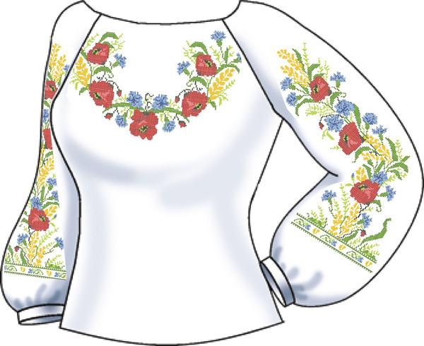 СВЖЛ-18. Заготовка для вишивки бісером Жіноча сорочка лляна. -