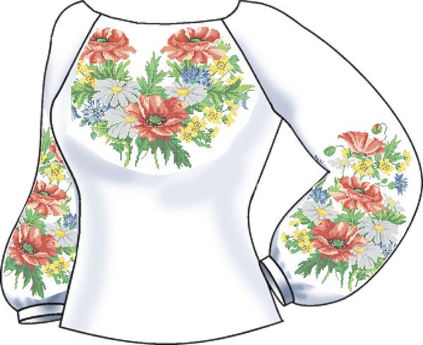 СВЖЛ-19. Заготовка для вишивки бісером Жіноча сорочка лляна. cdb511d1e84b7