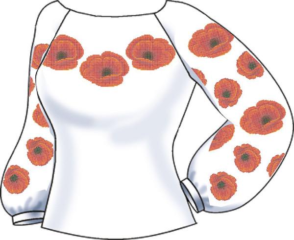 СВЖЛ-20. Заготовка для вишивки бісером Жіноча сорочка лляна. a7a412e3c1f32