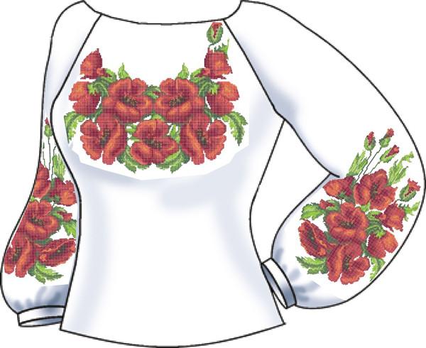 СВЖЛ-22. Заготовка для вишивки бісером Жіноча сорочка лляна. 6abc5b9193b00