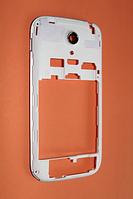 Fly IQ4404 средняя часть + стекло камеры белая