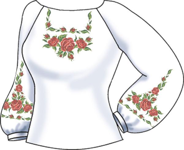 СВЖБ-15. Заготовка для вишивки бісером Жіноча сорочка. c464932abb2bb